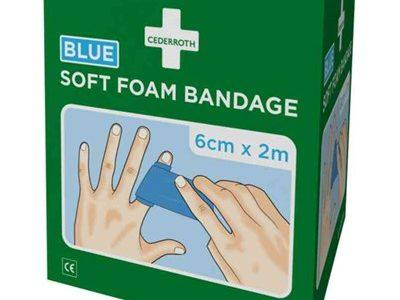 Soft Foam Bandage Cederroth Blå