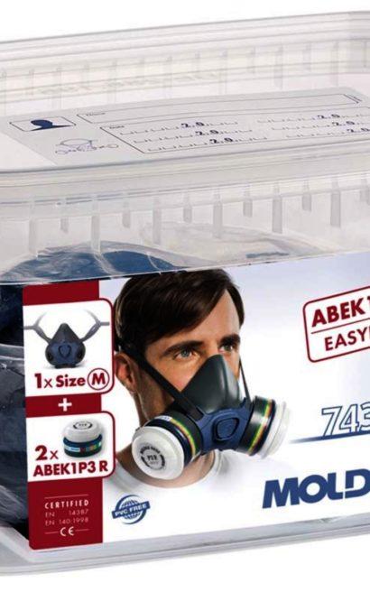 Moldex 7432 halvmaske. Readypack , 7000-series, kombifilter.